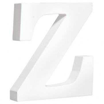 MDF- Buchstabe   Z  , weiß, 11cm, Stärke 2cm