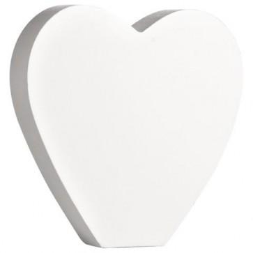 Holz-Zeichen   Herz  , weiß, 11cm, Stärke 2cm