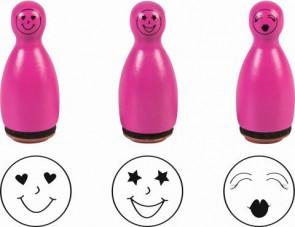 Stempelset Mini, 3er pink