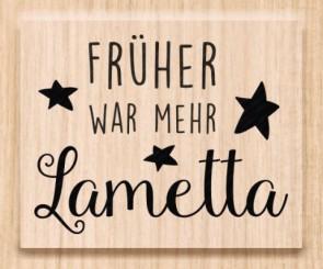 Holzstempel  Früher war mehr Lametta  5x3,5cm