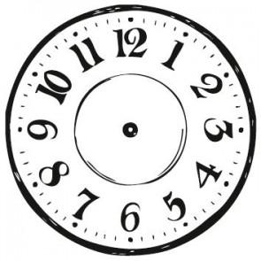 Stempel rund Clock
