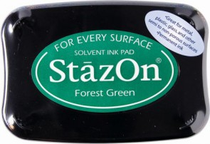 Stempelkissen StazOn forest green 6x9,5cm