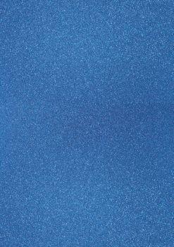 GlitterkartonA4 200g pfauenblau