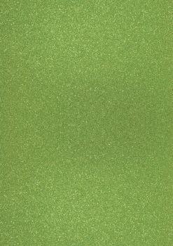 GlitterkartonA4 200g oliv