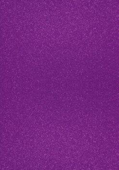GlitterkartonA4 200g lila