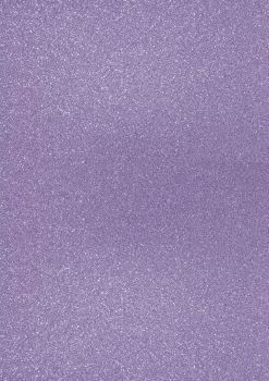GlitterkartonA4 200g lavendel
