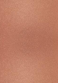 GlitterkartonA4 200g dunkelkupfer