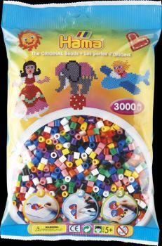 Hama Bügelperlen Vollton-Mix (10 Farben) 3.000 St.
