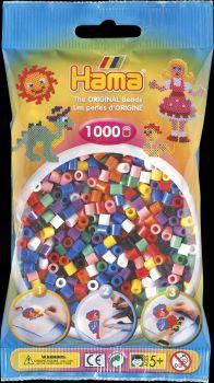 Hama Bügelperlen mix (10 Farben) 1000 Stck.