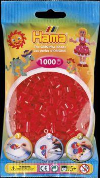 Hama Bügelperlen 1000 Stck. transp.rot