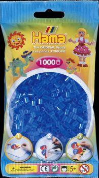 Hama Bügelperlen 1000 Stck transp.blau