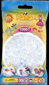 Hama Bügelperlen 1000 Stck transp.weiß