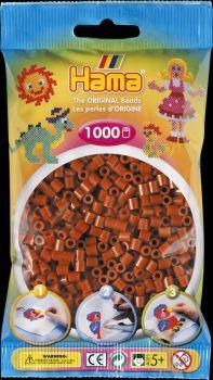 Hama Bügelperlen 1000 Stck rotbraun