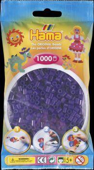 Hama Bügelperlen 1000 Stck transp.lila