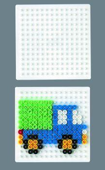 Stiftplatte, Quadrat, klein, weiß