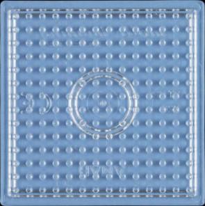 Stiftplatte, Quadrat, klein, transparent