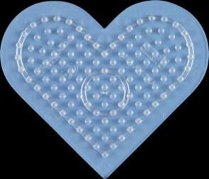 Stiftplatte, Herz, klein, transparent