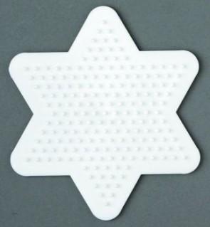 Stiftplatte, Stern, klein, weiß