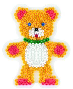 Stiftplatte, Teddybär, weiß