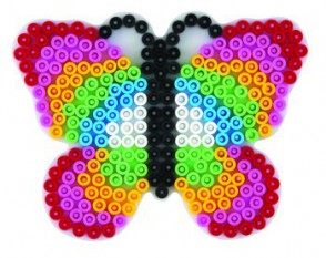 Stiftplatte, Schmetterling, weiß