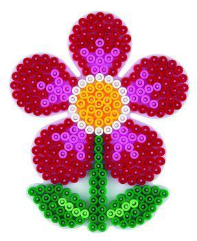 Stiftplatte, Blume, weiß