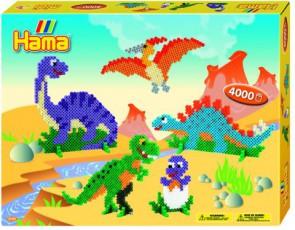 Hama Bügelperlen-Set Dinosaurier