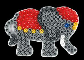 Stiftplatte, Kleiner Elefant, weiß