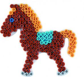 Stiftplatte, Pony, weiß