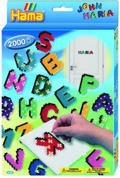 Hama Bügelperlen-Set GP Buchstaben