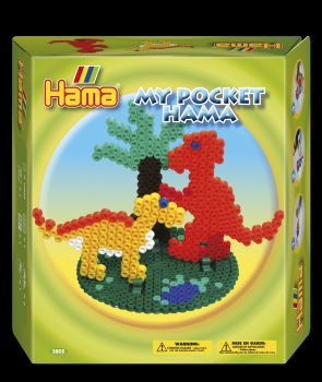 Hama Bügelperlen-Set, My Pocket Dinosaurier