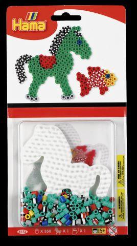 Hama Bügelperlen-Set, Pferd mit gestreiften Perlen