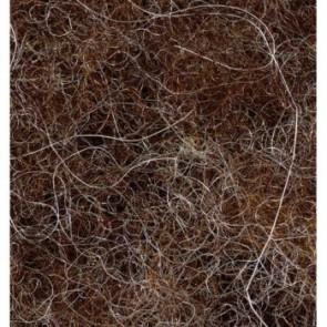 Wolle zum Filzen dunkelbraun 50 g