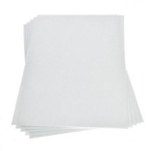 Moosgummiplatte Glitter weiß 200 x 300 x 2 mm