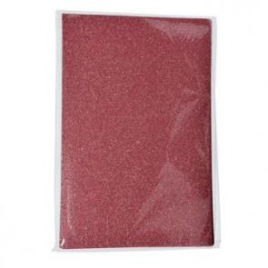 Moosgummiplatte Glitter rosa 200 x 300 x 2 mm