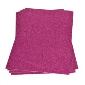 Moosgummiplatte Glitter pink 200 x 300 x 2 mm