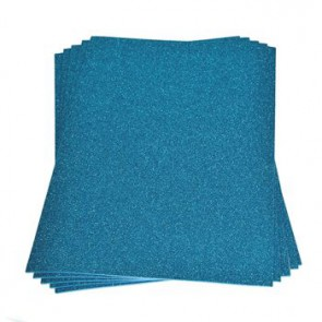 Moosgummiplatte Glitter hellblau 200 x 300 x 2 mm