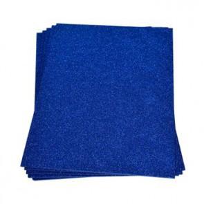 Moosgummiplatte Glitter blau 200 x 300 x 2 mm