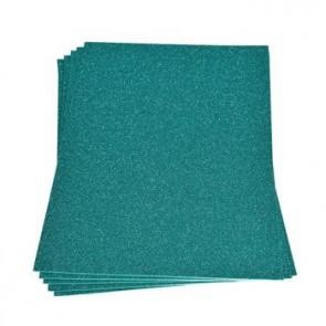 Moosgummiplatte Glitter türkis 200 x 300 x 2 mm