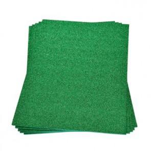 Moosgummiplatte Glitter grün 200 x 300 x 2 mm