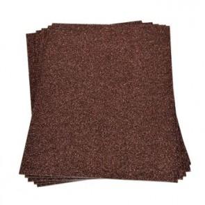 Moosgummiplatte Glitter dunkelbraun 200 x 300 x 2 mm