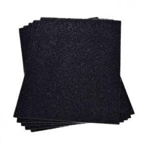 Moosgummiplatte Glitter schwarz 200 x 300 x 2 mm
