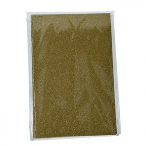 Moosgummiplatte Glitter gold 200 x 300 x 2 mm