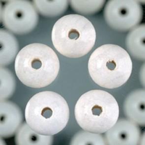 Holzperlen weiß Bohr ø 1,5 mm 4 mm 165 Stk.