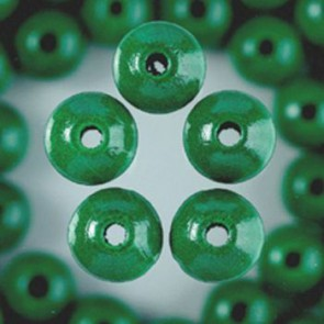 Holzperlen grün Bohr ø 1,5 mm 4 mm 165 Stk.