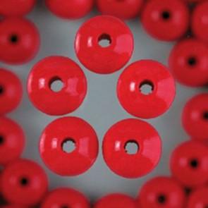 Holzperlen rot Bohr ø 2,0 mm 6 mm 125 Stk.