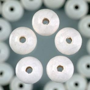 Holzperlen weiß Bohr ø 2,3 mm 8 mm 90 Stk.