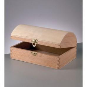 Holztruhe roh mit Verschluss 25 x 13 x 9,5 cm