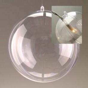 Kunststoffkugel glasklar teilbar mit Loch (PS) 120 mm