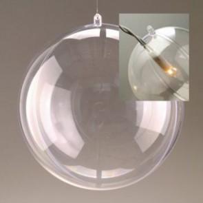 Kunststoffkugel glasklar teilbar mit Loch (PS) 140 mm