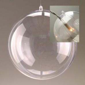 Kunststoffkugel glasklar teilbar mit Loch (PS) 180 mm